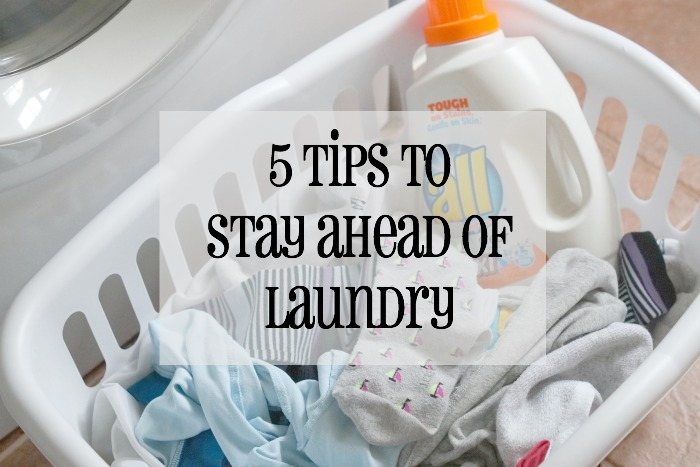 Looking for help with one of the most dreaded chores? Check out these 5 Tips to Stay Ahead of Laundry #freeToBe #ad