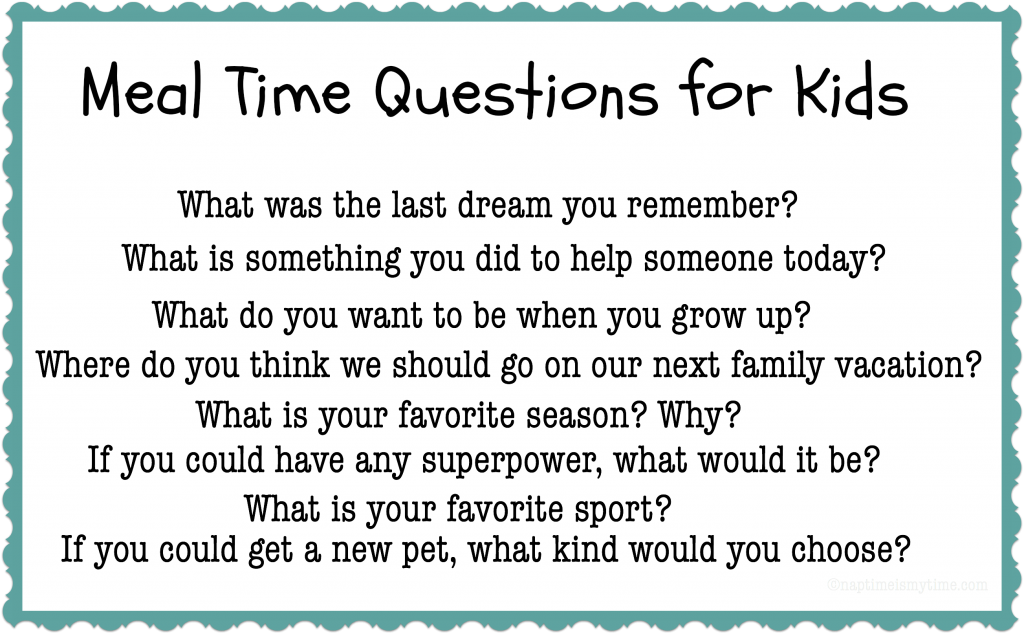 Looking for a way to reconnect with you family at dinner time? Try asking these Meal Time Questions for Kids! #ad #saucesome