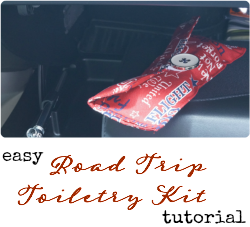 Give Dad #TheGiftOfClean this #FathersDay with an Armor All Car Cleaning Bucket and a Road Trip Toiletry Kit (tutorial) #ad