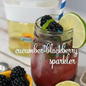 Cucumber Blackberry Sparkler: A refreshing non-alcoholic beverage
