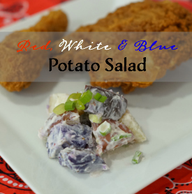 #AD This easy potato salad recipe is perfect for summer picnics. Grab your red, white, and blue potatoes and let's get cooking' #SummerYum