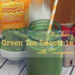 Strawberry Green Tea Smoothie with Tangerine