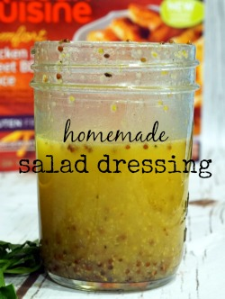Create a simple summer meal for your family using this easy homemade salad dressing recipe and a little help from #MyNewLeanCuisine #ad