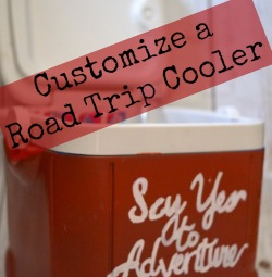 Planning a Summer Road Trip? Take this personalized cooler with you! Grab the supplies @Walmart during a #FuelTheLove @Pennzoil Oil Change #ad