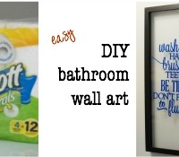 Make this easy bathroom wall art tutorial #ScottTubeFree #Ad