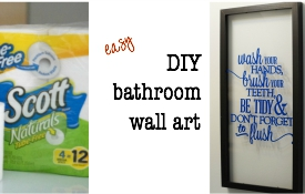 Make This: Easy Bathroom Wall Art Tutorial