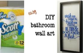 Make this easy bathroom wall art tutorial #ScottTubeFree #Ad