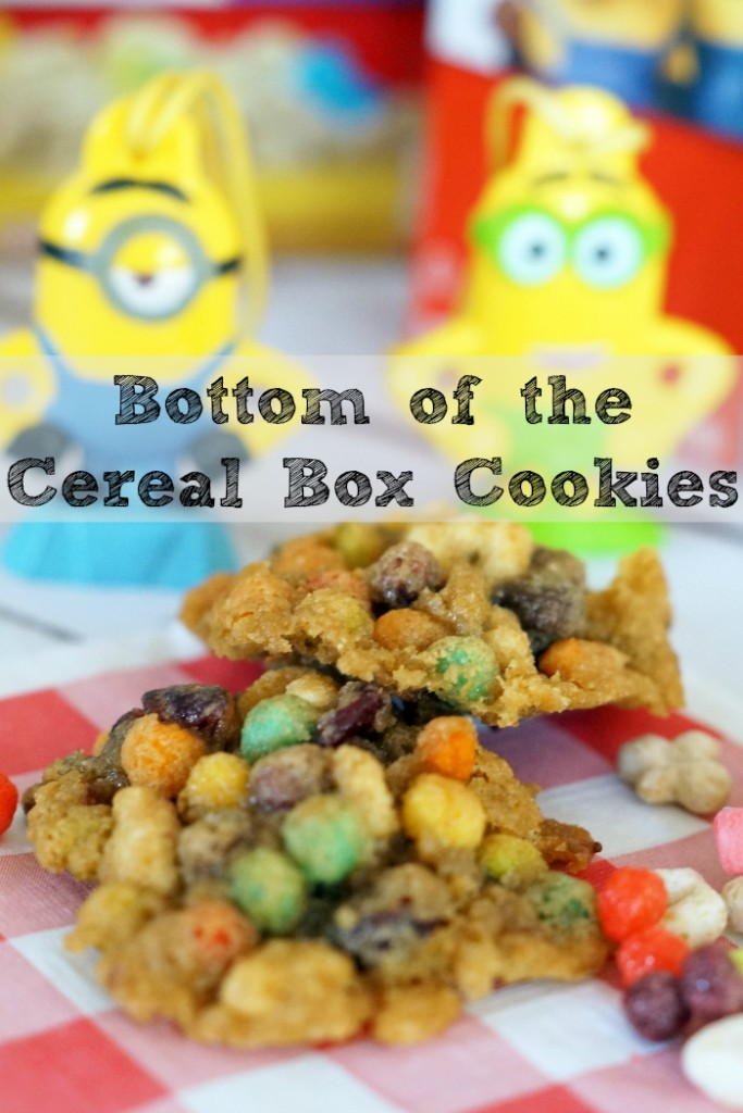 These bottom of the cereal box cookies ensures nothing is wasted! If you act fast, you may even find #The7thMinion in a specially marked cereal box! #Ad