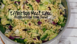 Effortless Meal Idea: Summertime Orzo Salad