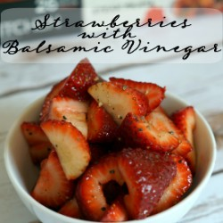 Looking for a healthy dessert idea? Make this Strawberries with Balsamic Vinegar recipe. A perfect follow up to a #PowerfulProtein meal from @Stouffers #ad