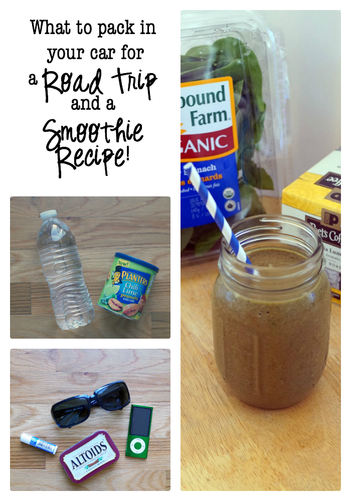What to Pack in Your Car for a Road Trip, a Smoothie Recipe, and a chance to win a CAR! #RoadTripHacks #Shaws AD