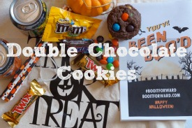 Double Chocolate Cookies with Halloween Candy