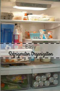 Easy Refrigerator Organization