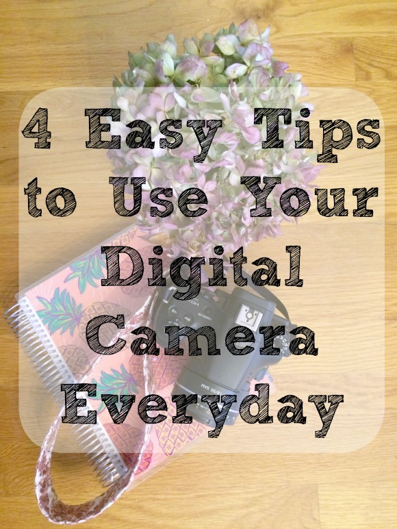 Improve your photography skills by following these 4 tips on using your camera everyday. #PhotoTips #UseYourDSLR