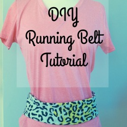 Love to exercise but don't love armbands to hold your music? Check out this easy DIY Running Belt #TryALittleGoodness AD