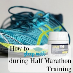It's important to sleep well during half marathon training. Check out these tips and share yours! #HealingNightsSleep AD