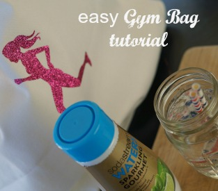 Make this DIY Gym Bag and you'll always have your gear with you! Slip in a bottle of Sparkling Water to stay hydrated. #WaterMadeExciting AD