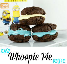 This easy to follow Whoopie Pie Recipe is perfect for a Minions movie night! #MinionsMovieNight AD