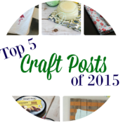 We've wrapped up another exciting year and are sharing our top 5 craft posts of 2015! Click over to see if your favorite craft make the list?