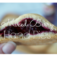 Delicious and simple mixed berry hand pies. The perfect dessert for all occasions! #BlackberryAffair AD