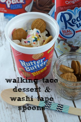 Walking Taco Dessert and DIY Washi Tape Spoons