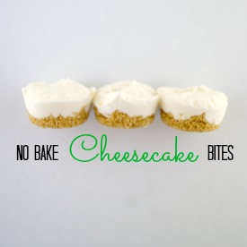 These no bake cheesecake bites are simple and delicious! They're everything you love about cheesecake without having to bake!
