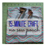 15-Minute Craft: Simple No Sew Pouch