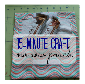 This simple no sew pouch makes it easy to #SnackAndRally anytime! AD