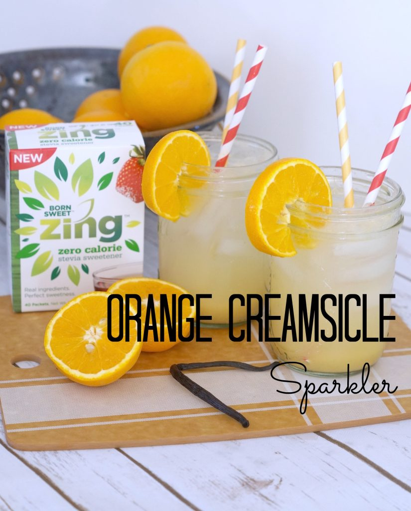 Make this Orange Creamsicle Sparkler recipe to bring #SweetExcitement to your beverages! AD