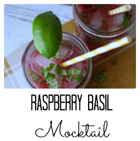 Simple Raspberry Basil Mocktail Recipe