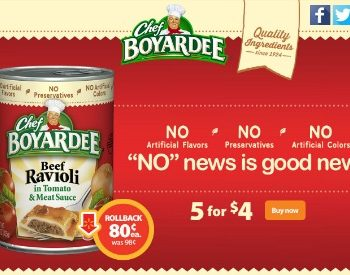 Great savings on Chef Boyardee! ad #SaveOnChef