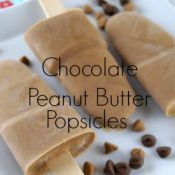 This Chocolate Peanut Butter Popsicle recipe is easy to make, packed with protein, and the perfect frozen treat for after school! AD #StirImagination