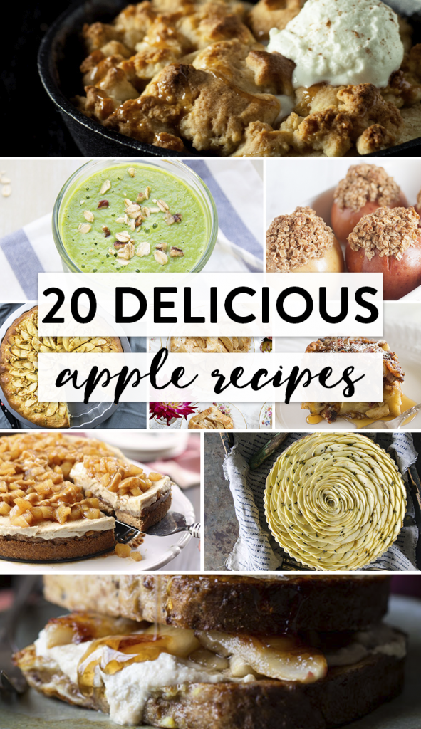 20 delicious apple recipes to make this fall. These delicious apple recipes feature desserts, drinks, salads, and more highlighting a favorite fall fruit.