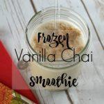 Frozen Vanilla Chai Smoothie