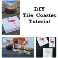 This simple tile coaster tutorial will have you on your way to making homemade gifts in no time! Click to learn how easy it is! #SnappleRollback AD
