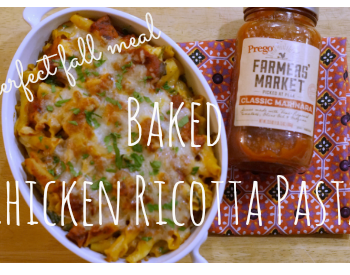 Made with ingredients you'd find at your local farmers' market, this baked chicken ricotta pasta recipe is the perfect fall weeknight meal! ad #PickedAtPeak