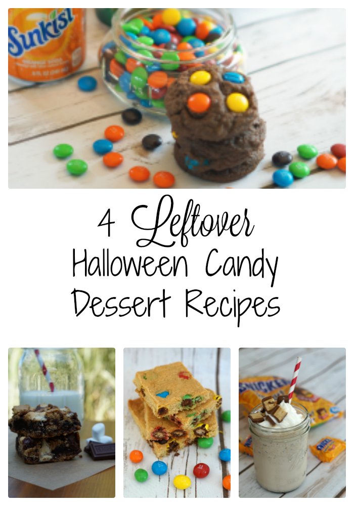Wondering what to do with your leftover Halloween candy? Give one of these Leftover Halloween Candy Dessert Recipes a try!