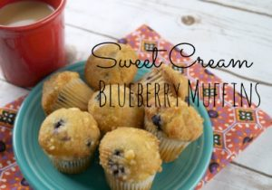 Sweet Cream Blueberry Muffins