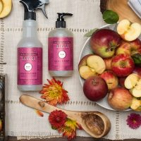 Stay cozy this fall with Mrs. Meyer's seasonal scents in Apple Cider and Mum. #affiliate