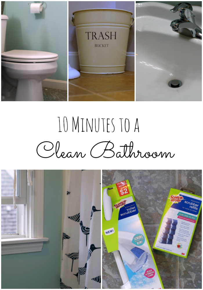 How to Clean Your Bathroom in 10 Minutes and still #GetUnderTheRim AD
