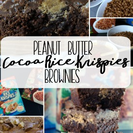 Peanut Butter Cocoa Rice Krispies Brownies