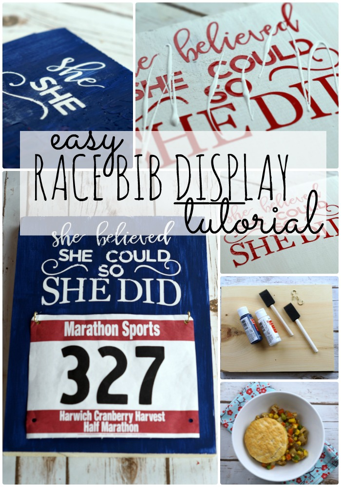 Follow this awesome race bib display tutorial to make the perfect gift for all of the runners in your life #My