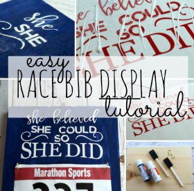 Race Bib Display Tutorial