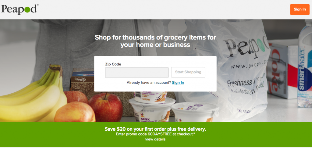 Learn how you can make holiday grocery shopping easier with Peapod grocery delivery service. #ad