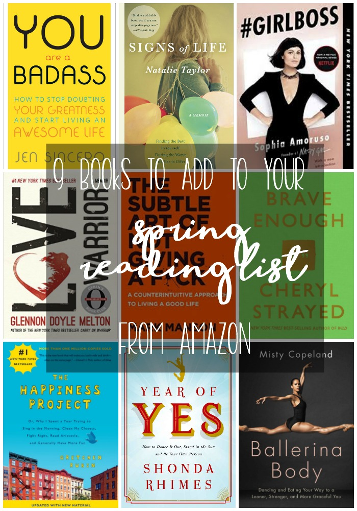 Check out these 9 books to add to your kindle reading list for spring! #affiliate