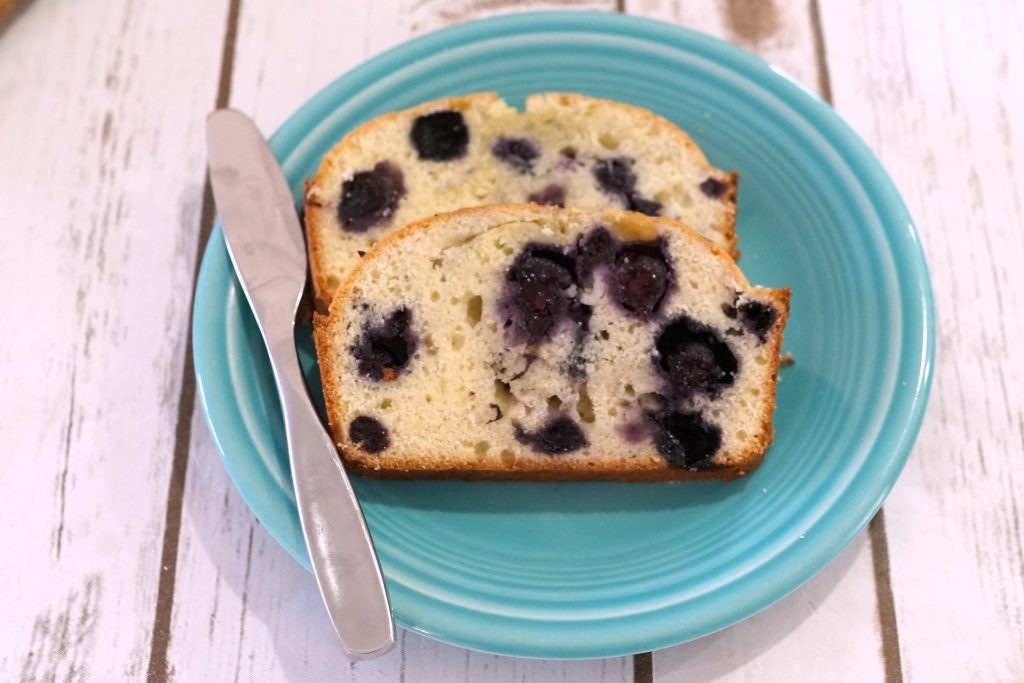 Perfect for making on a sunny spring day, this Blueberry Vanilla Bread bakes in one hour and is a perfect complement to hot coffee. #ShareTheFlavor ad