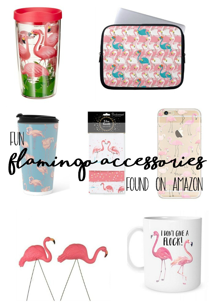 Brighten up your day with these fun pink flamingo accessories from Amazon! These colorful items will arrive at your door in as little as two days! AD