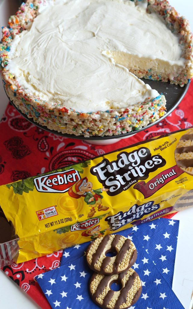 This Rice Krispies Ice Box Cake is the perfect no bake dessert for your summer parties. Get the easy recipe today and #TreatYourselfToSummer AD