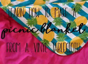 Simple Sewing Project:: Sew a Picnic Blanket