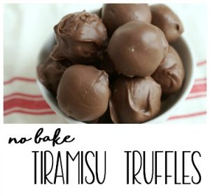 Summer Dessert Idea:: No Bake Tiramisu Truffles